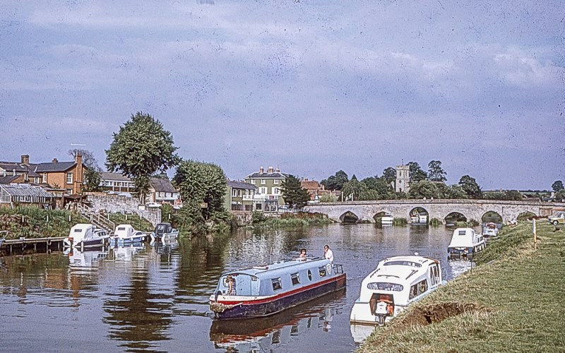 Boats at Bidford on Avon in 1974
