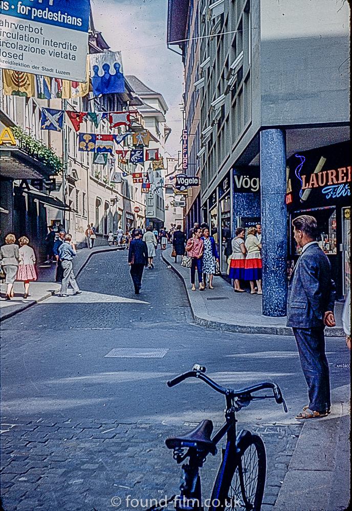 A Narrow street in Lucerne Switzerland c1960