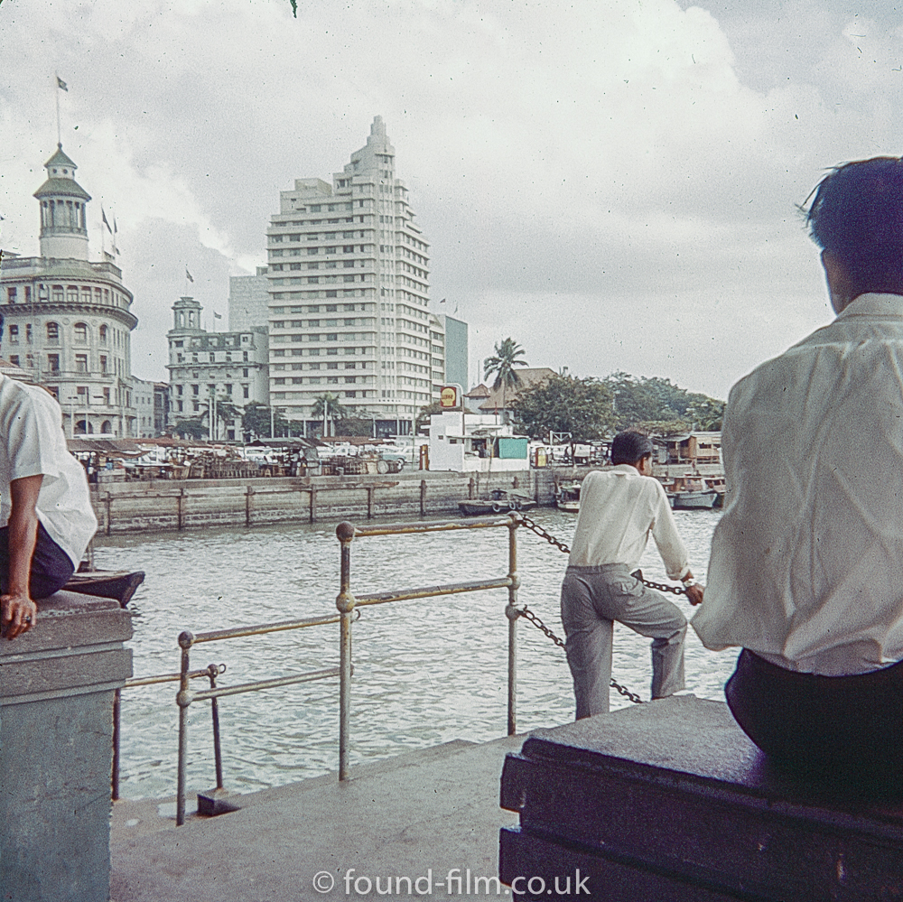 The Waterfront at Singapore in about 1960