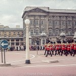 Trooping the colour by Buckingham Palace in London
