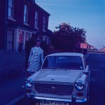 Woman with an Austin car c1967