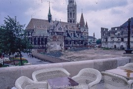 Building works at the Matthias Church in Budapest