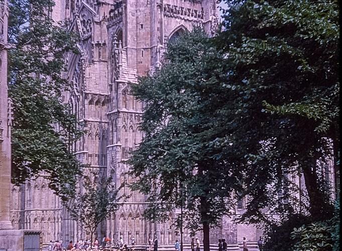 York Minster in October 1975