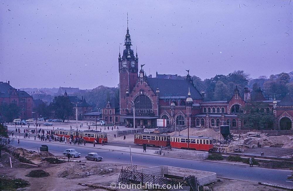 Gdańsk Główny - railway station in the 1960s
