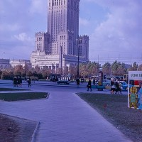Palace of Culture and Science in Warsaw 1960s