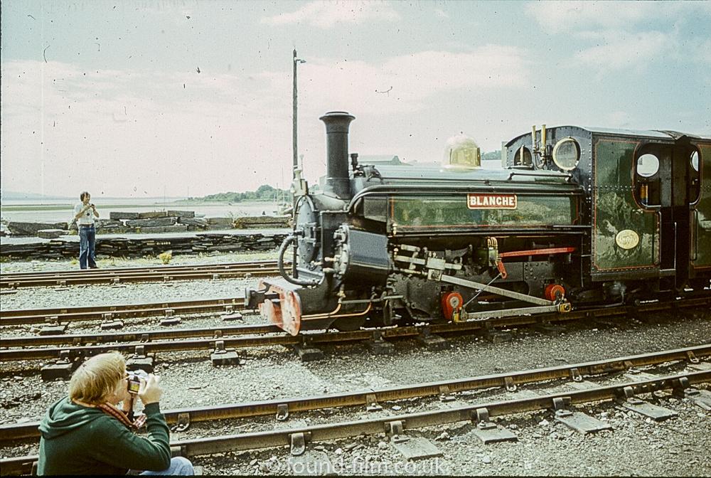 Steam engine Blanche on the Ffestiniog railway