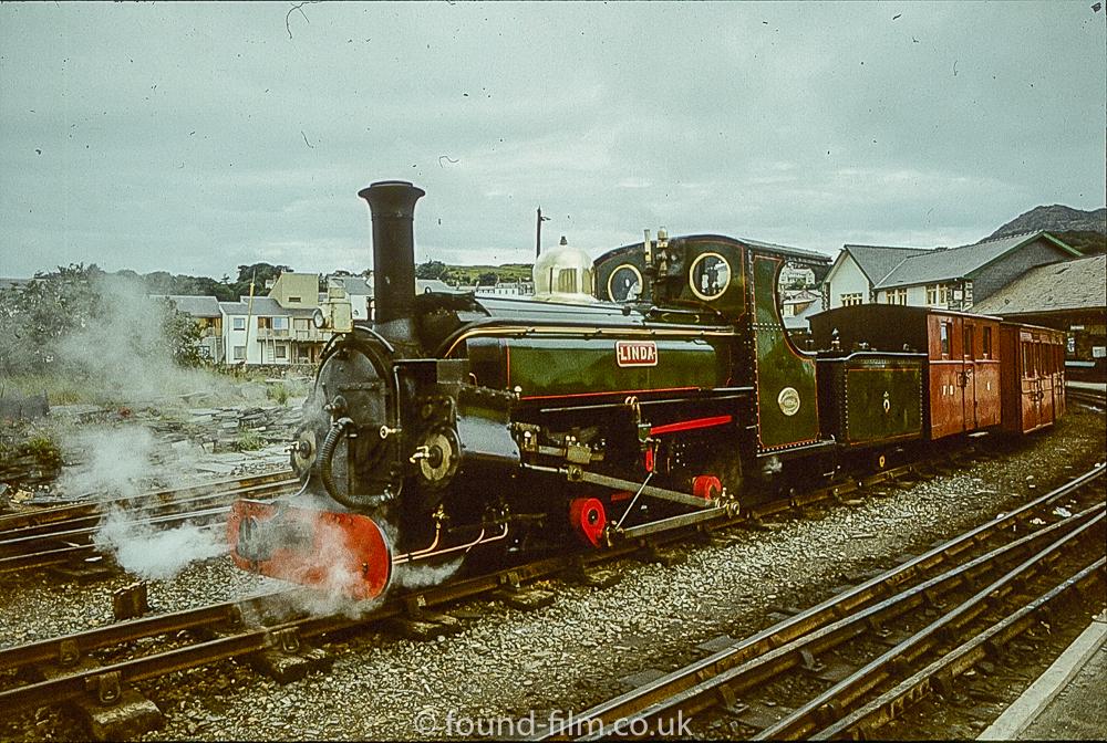 Steam Engine Linda on the Ffestiniog railway in 1978