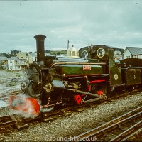Steam Engine Linda on the Ffestiniog railway in 1978