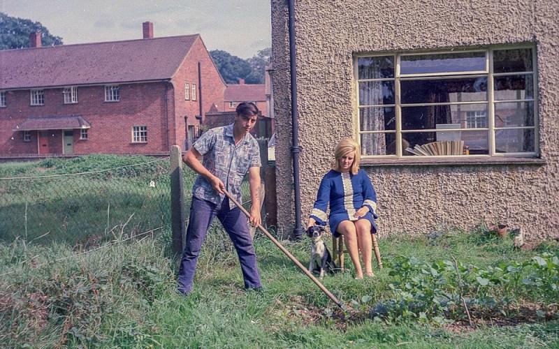 Gardening in our new homeMedium format negatives -