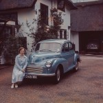 Morris Minor and Owner