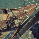 Perutz slide film - Looking down on the crew