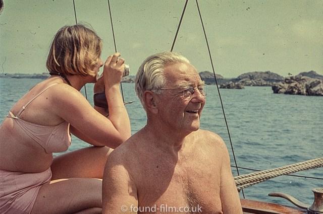 Perutz slide film - sailor with a camera