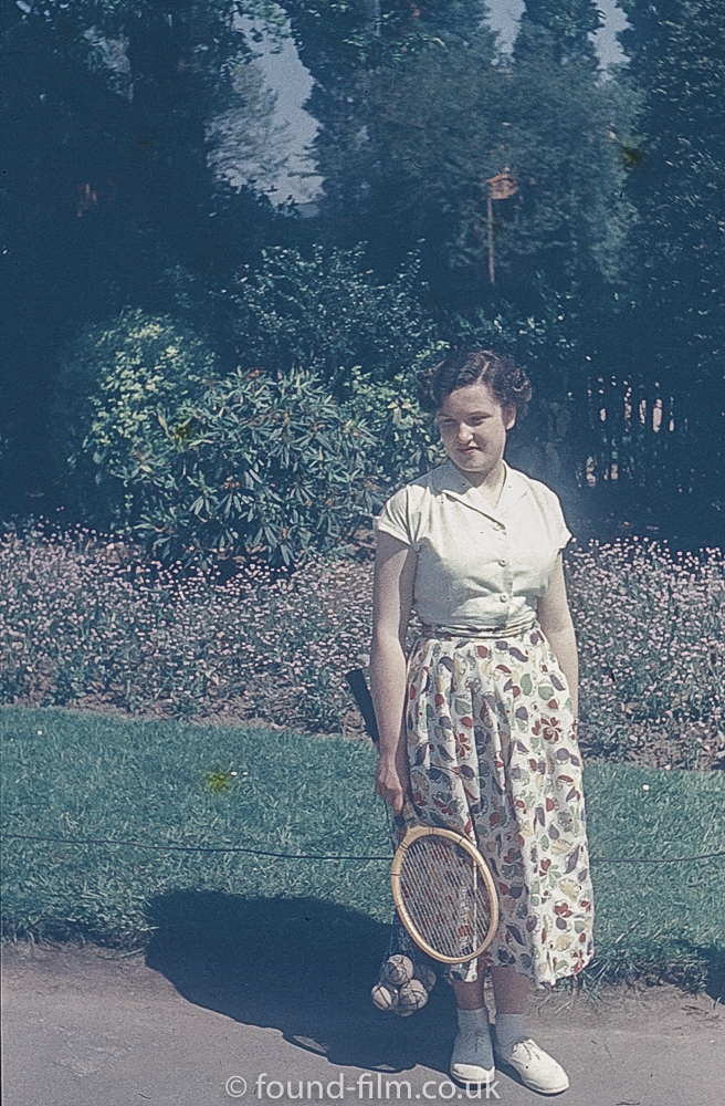 Woman waiting to play tennis
