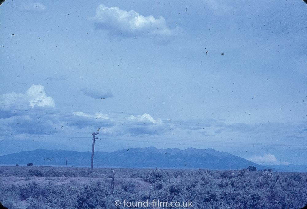Anscochrome Film - A lone telegraph pole