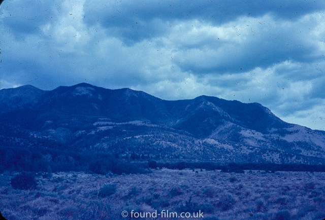 Anscochrome Film - Clouds over the mountains