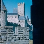 Pictures of Spain from 1955 - Carsasonne in France, Sept 1955