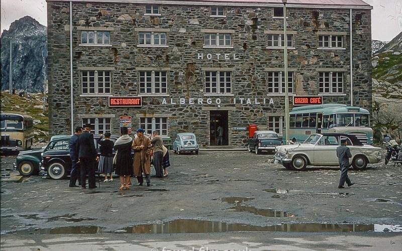 Hotel Alberto Italia in the late 1950s