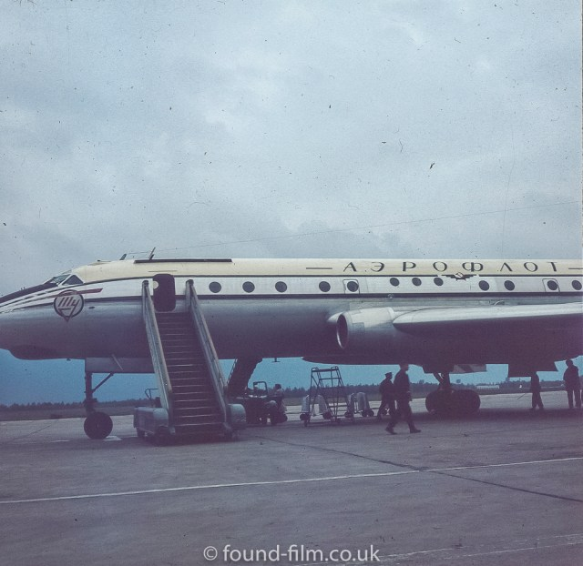 Images from Soviet Era Moscow - Jet Plane to Moscow - 1957