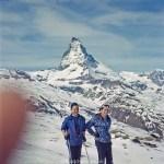Skiing near the Matterhorn - early 1960s