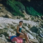 Pictures of Spain from 1955 - The Photographer on S. Christinia beach, Sept 1955