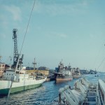 Images from Soviet era Leningrad - The Port at Leningrad