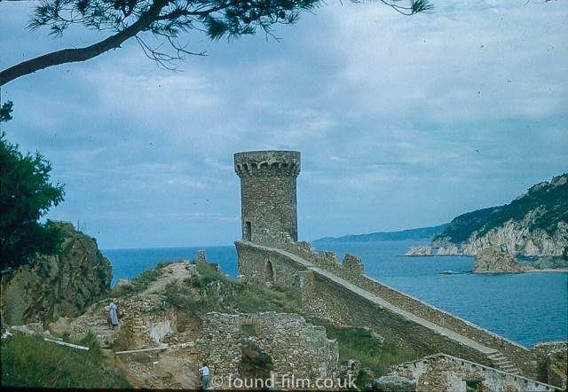 Pictures of Spain from 1955 - Tossa De Mar Castle Spain, Sept 1955