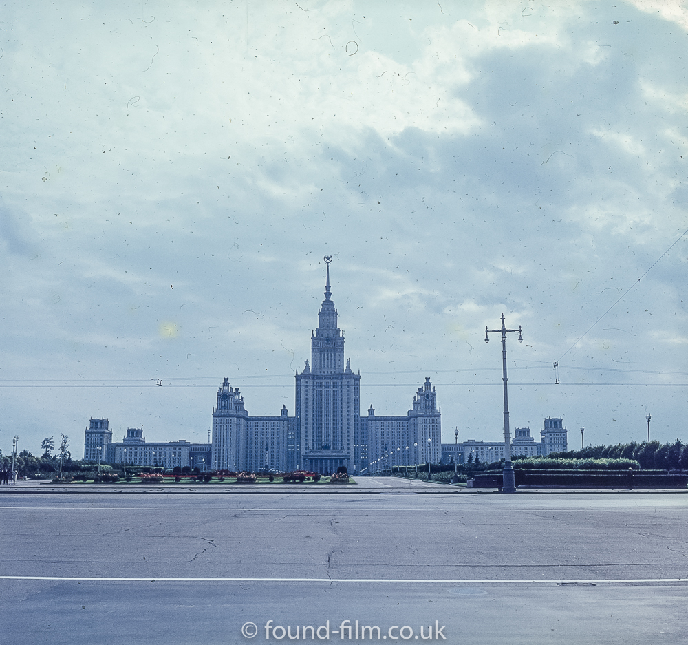 Images from Soviet Era Moscow - View of Moscow University - 1957