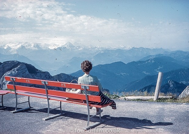 Woman Looking at a mountain range
