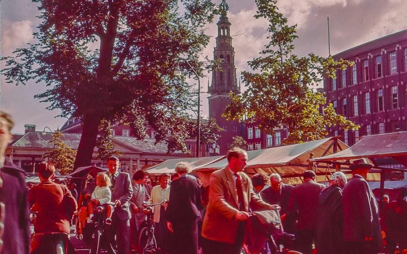Leiden Market in Holland - 1957