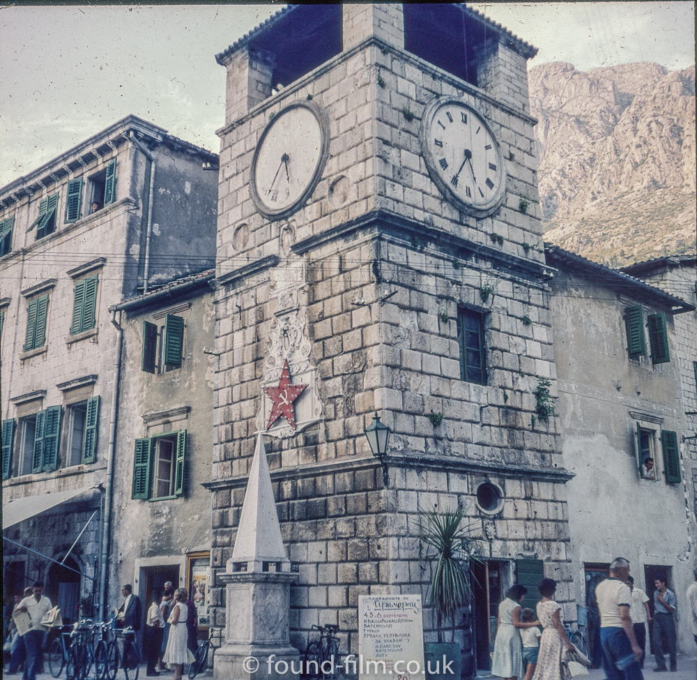 The Clock tower in Kotor - late 1950s