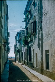 Street in Lloret in Spain - 1955