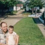 kodachrome red border colour slides - Man and his daughter