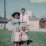 kodachrome red border colour slides - Family portrait