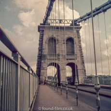 The Menai bridge in Wales