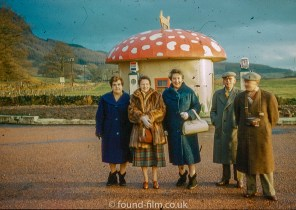 Toadstool Filling Station taken in the 1950s