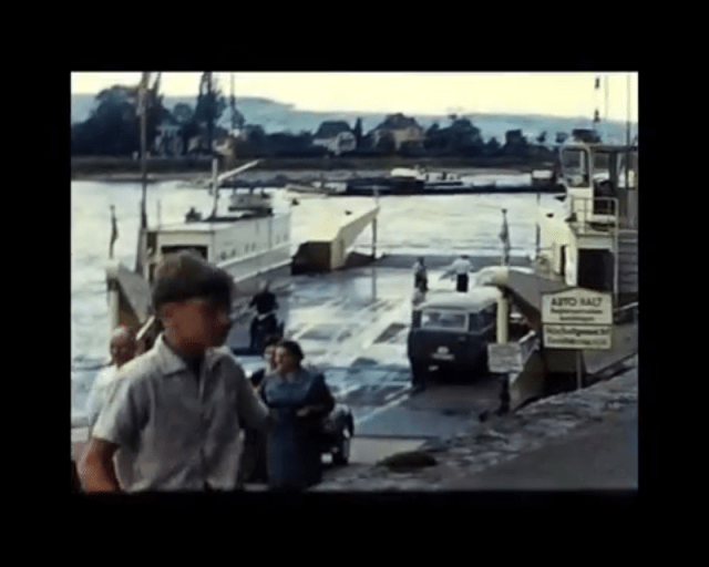 Screen shot from 8mm home movie of Germany and the Rhine 1961