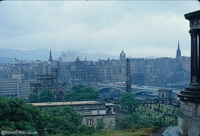A Kodachrome slide looking out over the city skyline in July 1967