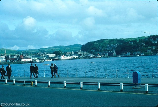 A picture of oban harbour taken in 1967 on Kodachrome slide film