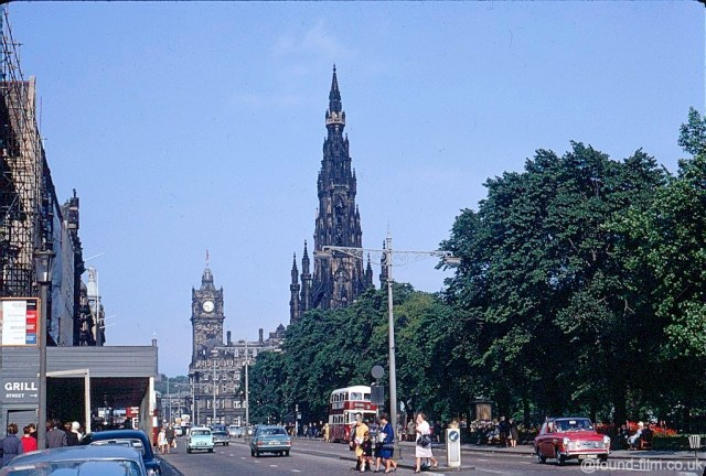 A Kodachrome slide of Princes Street in July 1967