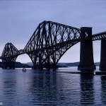 A Kodachrome slide which shows a silhouette of the bridge from August 1967
