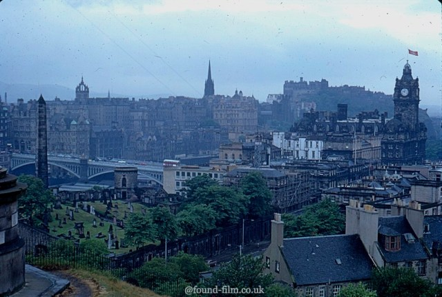 A picture showing Edinburgh and the North bridge July 1967