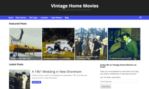 A screen shot of the new vintage 8mm films site