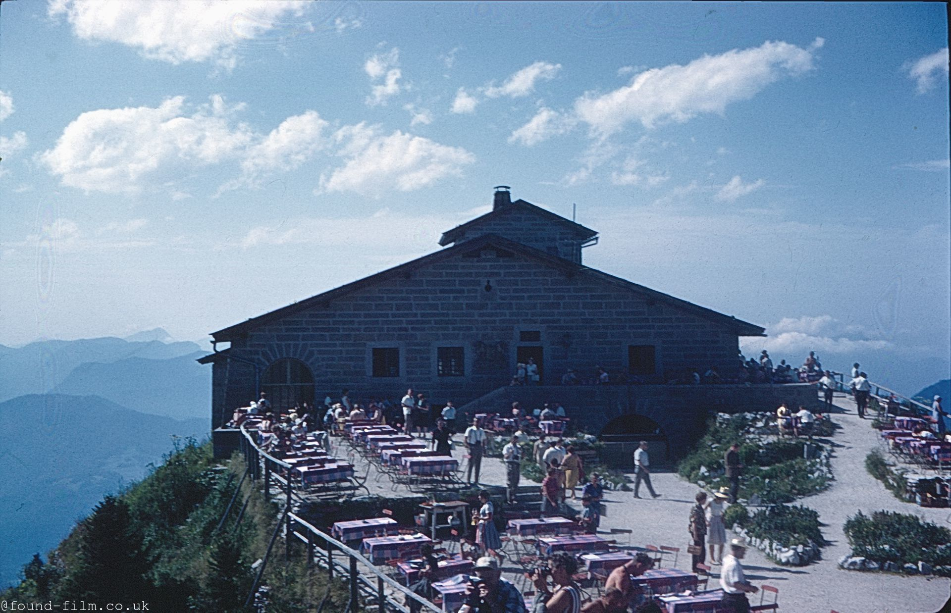 A Mountain cafe, probably in Switzerland in about 1962