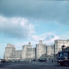 Caernarfon Castle in about 1959