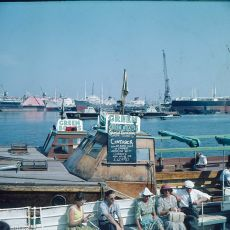 'Green Boats' tourist boat at Falmouth in the 1960s
