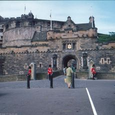The entrance to Edinburgh castle