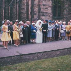 A wedding group from the 1970s