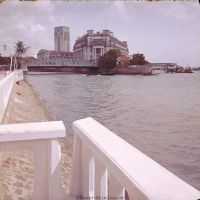 Building by the sea in 1960s Singapore