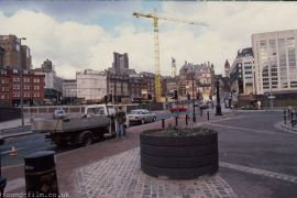 A City street scene from the April 1990