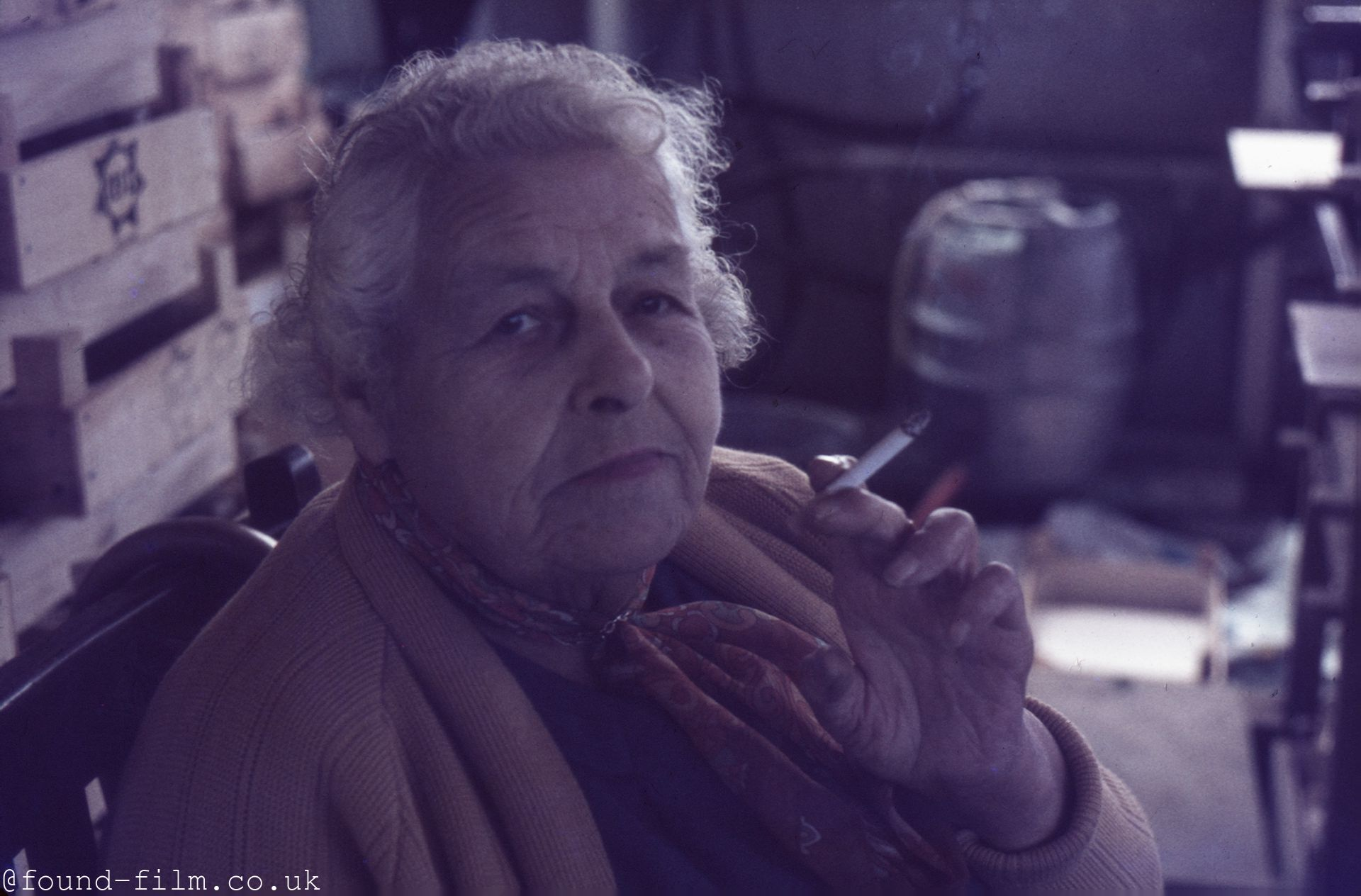 Portrait of a woman smoking - mid 1960s